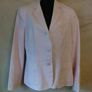Chaps pale pink linen blazer-sz 6